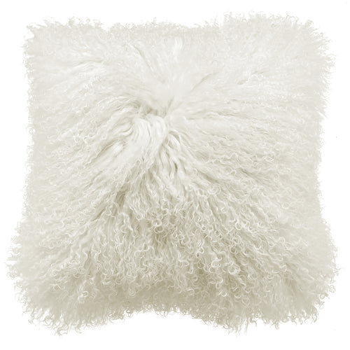 Royal Albert Mongolian Fur Cushion White
