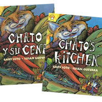 Chato's Kitchen English & Spanish 2-Paperback Book