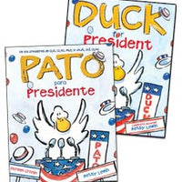 Duck For President English & Spanish Set of 2-Hardcover B
