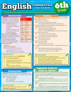 English Common Core State Standards Student Guide Grade 6