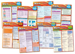 Math Common Core Student Guides Grades 1-8 Complete Set