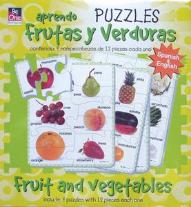 Fruits and Vegetables Bilingual Puzzles
