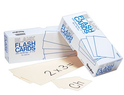 Blank Flash Cards Assorted 2 x 3