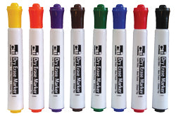 Dry Erase Markers - 8 Color Set