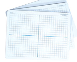 Student Graphing Boards Centimeter Grid (X & Y Axis)