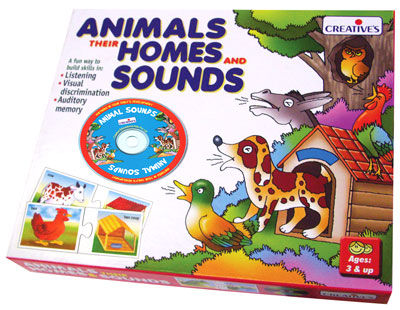 ANIMALS, THEIR HOMES & SOUNDS CD
