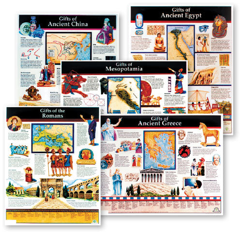 Ancient Civilizations Charts (Set of 5 Charts)