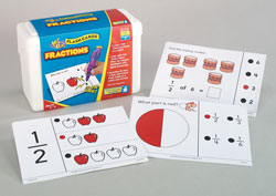 Fractions Hot Dots Flash Cards