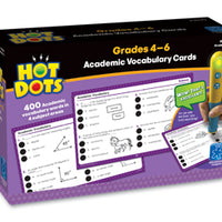 Hot Dots Academic Vocabulary Cards Gr 4-6