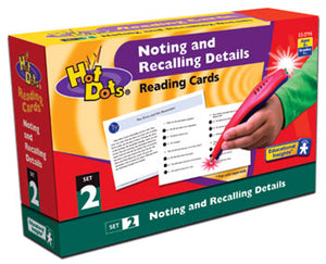Noting & Recalling Details Comprehension Hot Dots