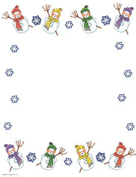 Snowman Decorated Design Paper