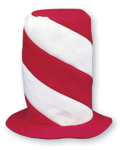 Red & White (Cat in the Hat) Stovepipe Hat