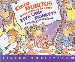 Five Little Monkeys Jumping on the Bed Bilingual B