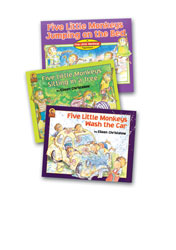 Five Little Monkeys Sitting in a Tree Paperback Book