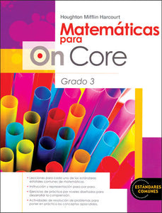 On Core Math Grade 1 Spanish Student Book Set