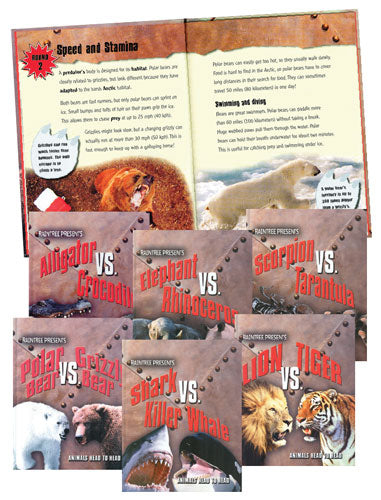Animals Head to Head Library Bound Book Set