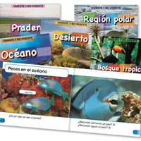 Living & Nonliving Spanish Library Bound Set