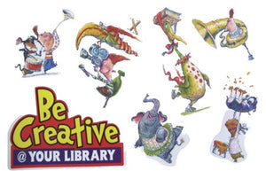 Be Creative at Your Library Window Clings