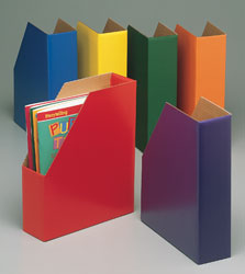 Cardboard Shelf Files - Assorted Colors