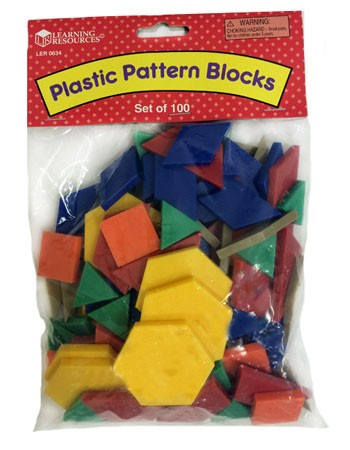Pattern Blocks 100 Standard Plastic