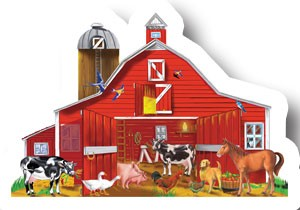 Animals in the Barn Floor Puzzle