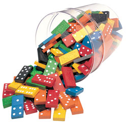 Double Six Dominoes with Bucket