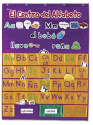 Spanish Alphabet Pocket Chart Center