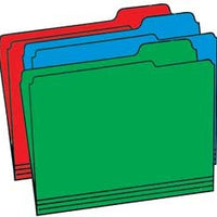 Colored File Folders (Letter Size; Pkg. of 50)