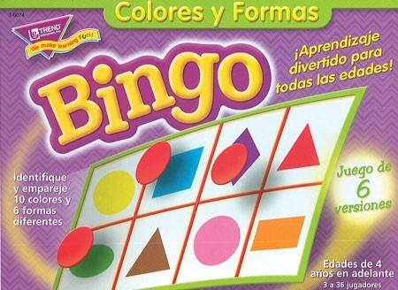 Colors and Shapes Bingo Spanish