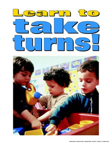Learn to Take Turns Poster Bullying Preschool Series