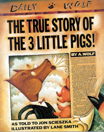 True Story of the 3 Little Pigs Paperback Book