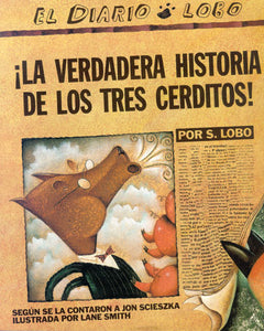 True Story of the 3 Little Pigs Spanish Paperback Book