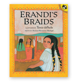 Erandi's Braids Paperback Book (with Spanish Phras