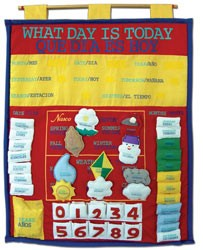 What Day Is Today Bilingual (English/Spanish) Fabr