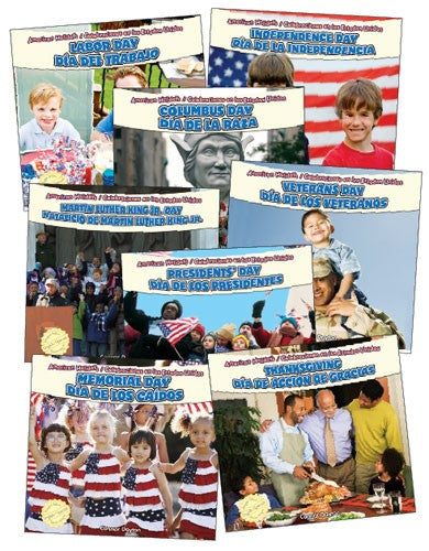 American Holidays Bilingual (English/Spanish) Set of 8 Books