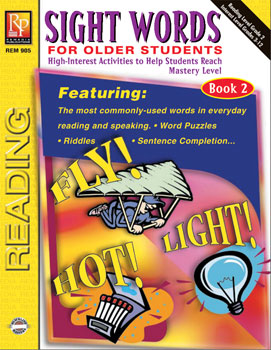 Sight Words For Older Students Book 2