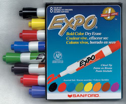 Expo Dry Erase Brown Marker