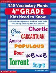 240 Vocabulary Word Kids Grade 4