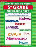 240 Vocabulary Word Kids Grade 5