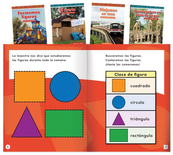 Mathematics Readers: Geometry Spanish Set