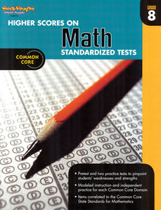 Higher Scores on Math Standardized Tests Grade 8