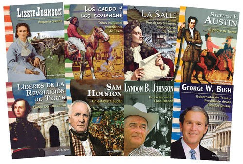 Texas History: Biographies Paperback Book Set