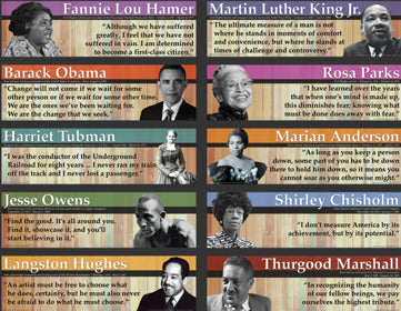 Notable Black Americans Mini Bulletin Board