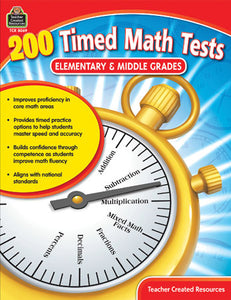 200 Timed Math Tests