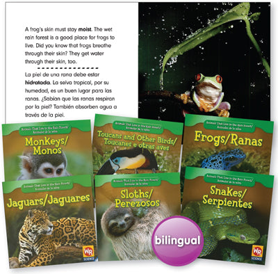 Animals That Live in the Rain Forest Bilingual Book Set