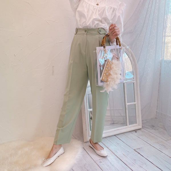 High Tuck Pants - MAISON MARBLE