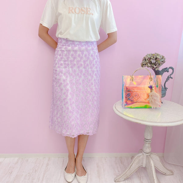 Lace Pop Skirt - MAISON MARBLE