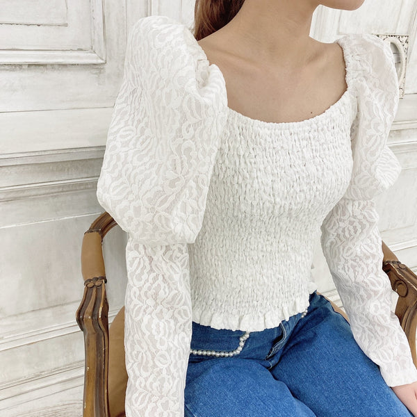 Puff Lace Tops - MAISON MARBLE