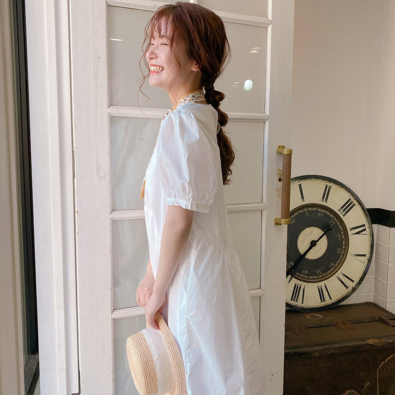 Simple Cotton Dress - MAISON MARBLE
