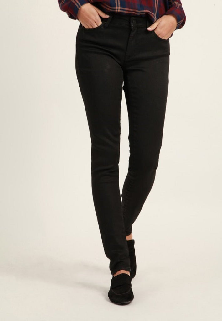 Mavi Damen Adriana Black Coated Sporty Super Skinny Jeans